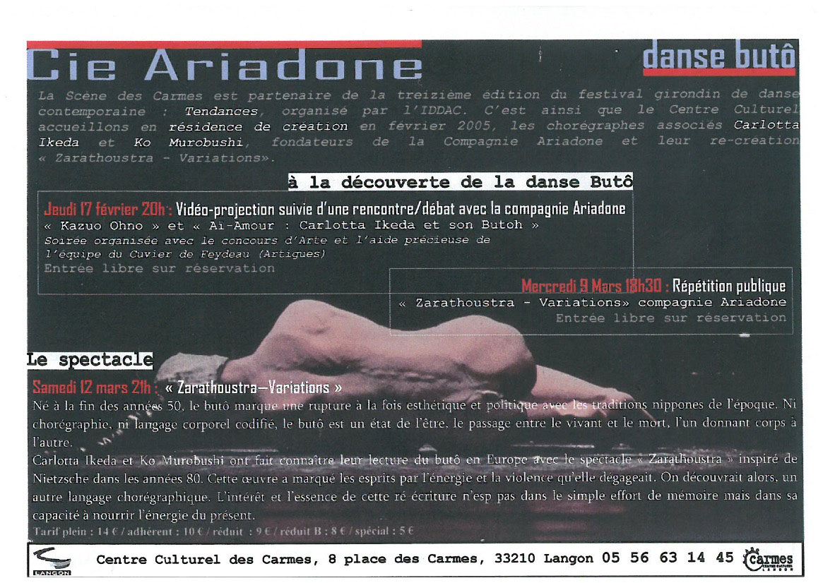"""Zarathustra-Variations"", ""Ai Amour"" [Flyer]"