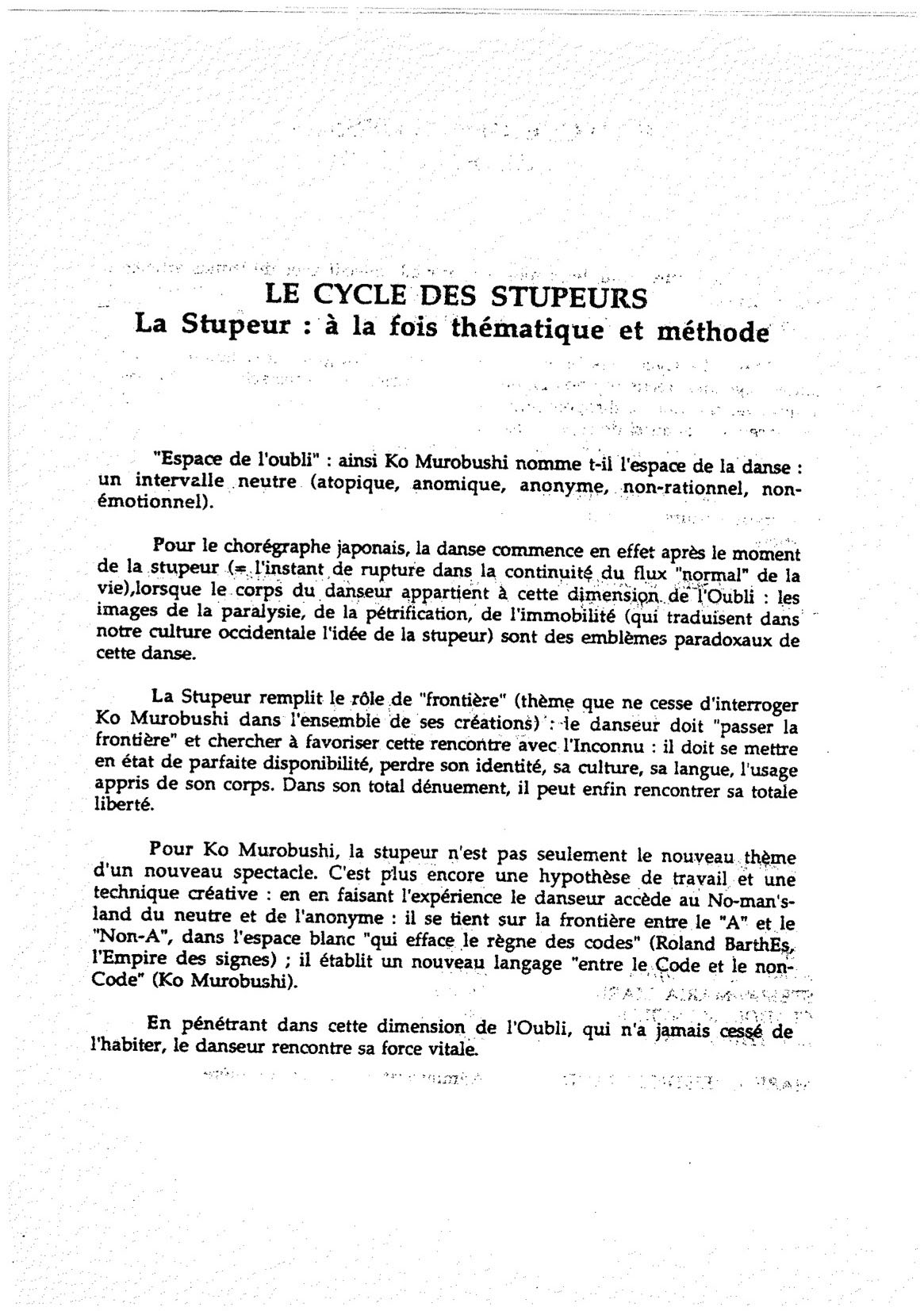 """Le Cycle des Stupeurs""