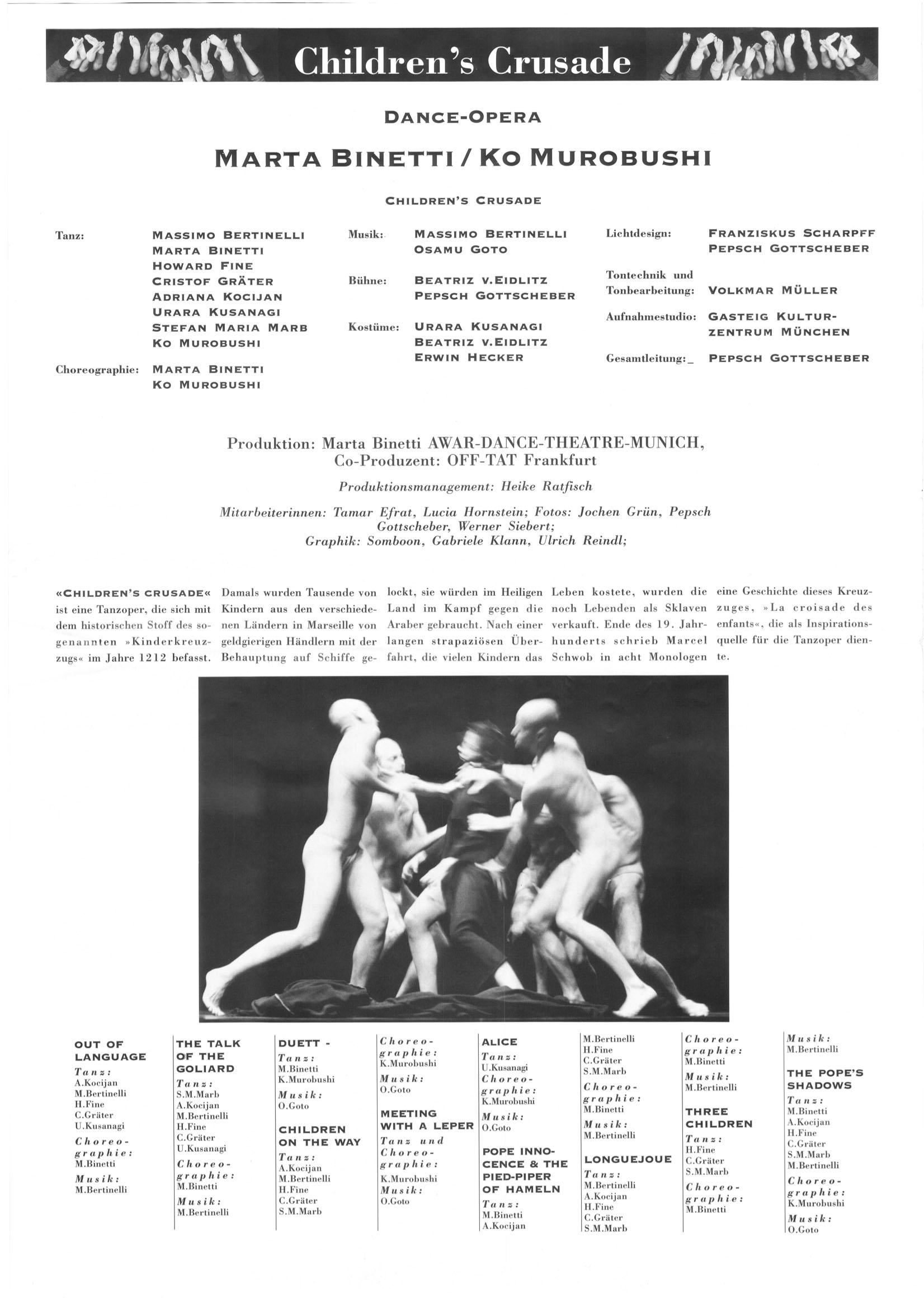 "Dance Opera ""The Children's Crusade""[Program]"