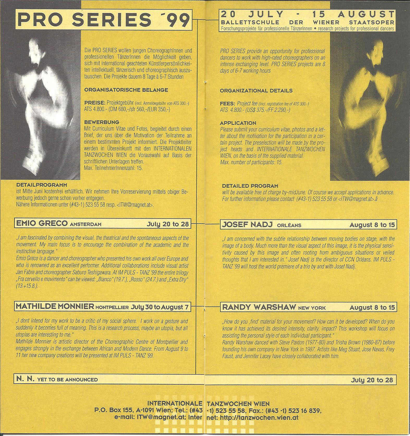 Pro series, Workshop (BUTOH o)