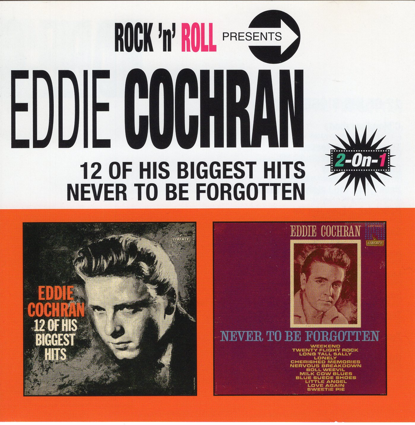 """Eddie Cochran 12 Of His Biggest Hits Never To Be Forgotten"" Eddie Cochran"