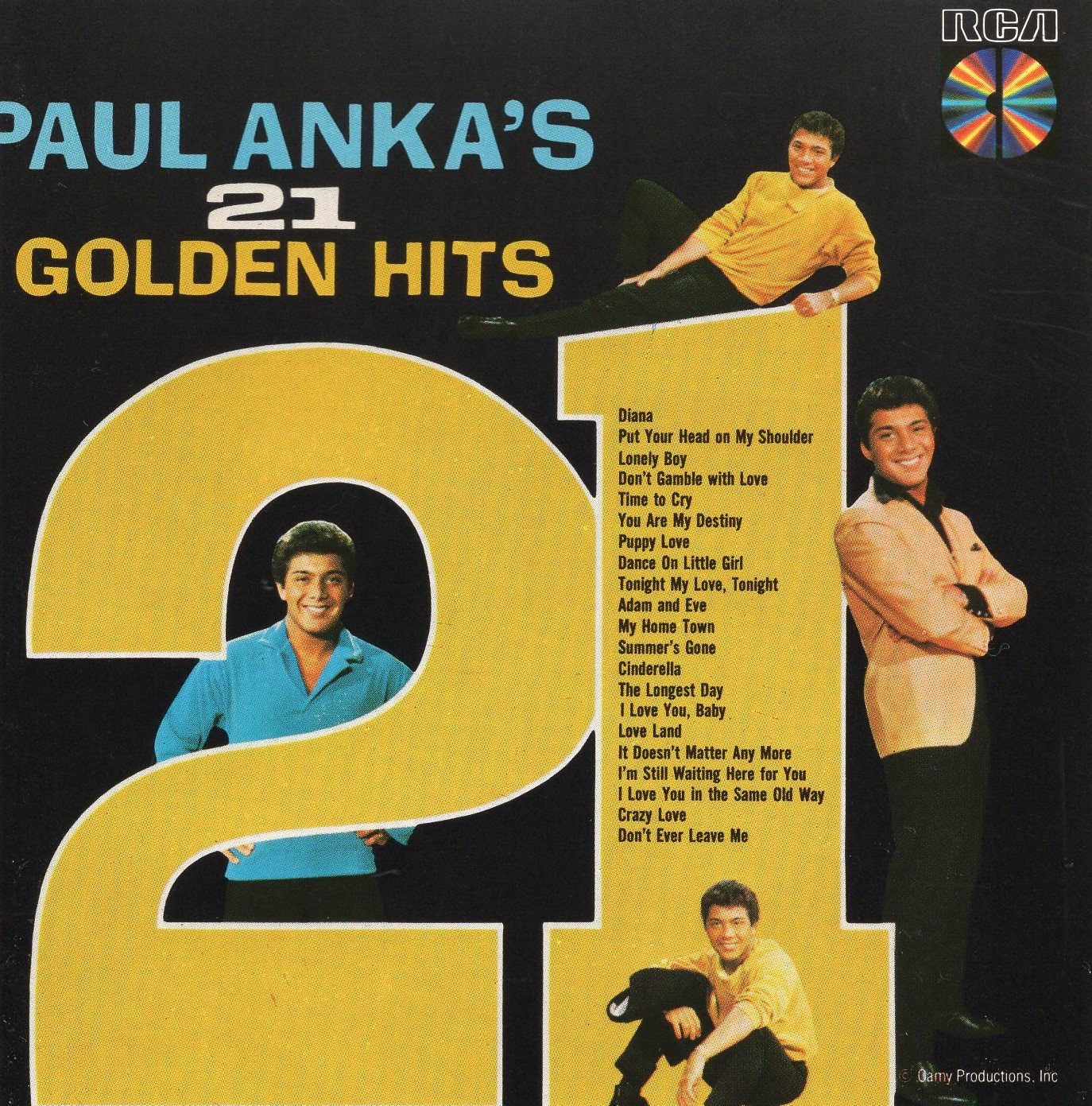 """Paul Anka's 21 Golden Hits"" Paul Anka"