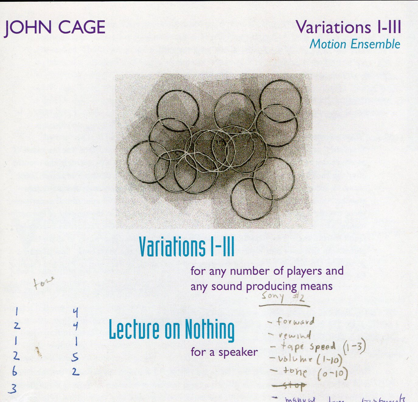 lecture on nothingness john cage essay Nothingness does not itself have being, yet it is supported by being it comes into the world by the for-itself and is the recoil from fullness of self-contained because consciousness exists as consciousness by making a nothingness arise between consciousness and the object of which it is consciousness.
