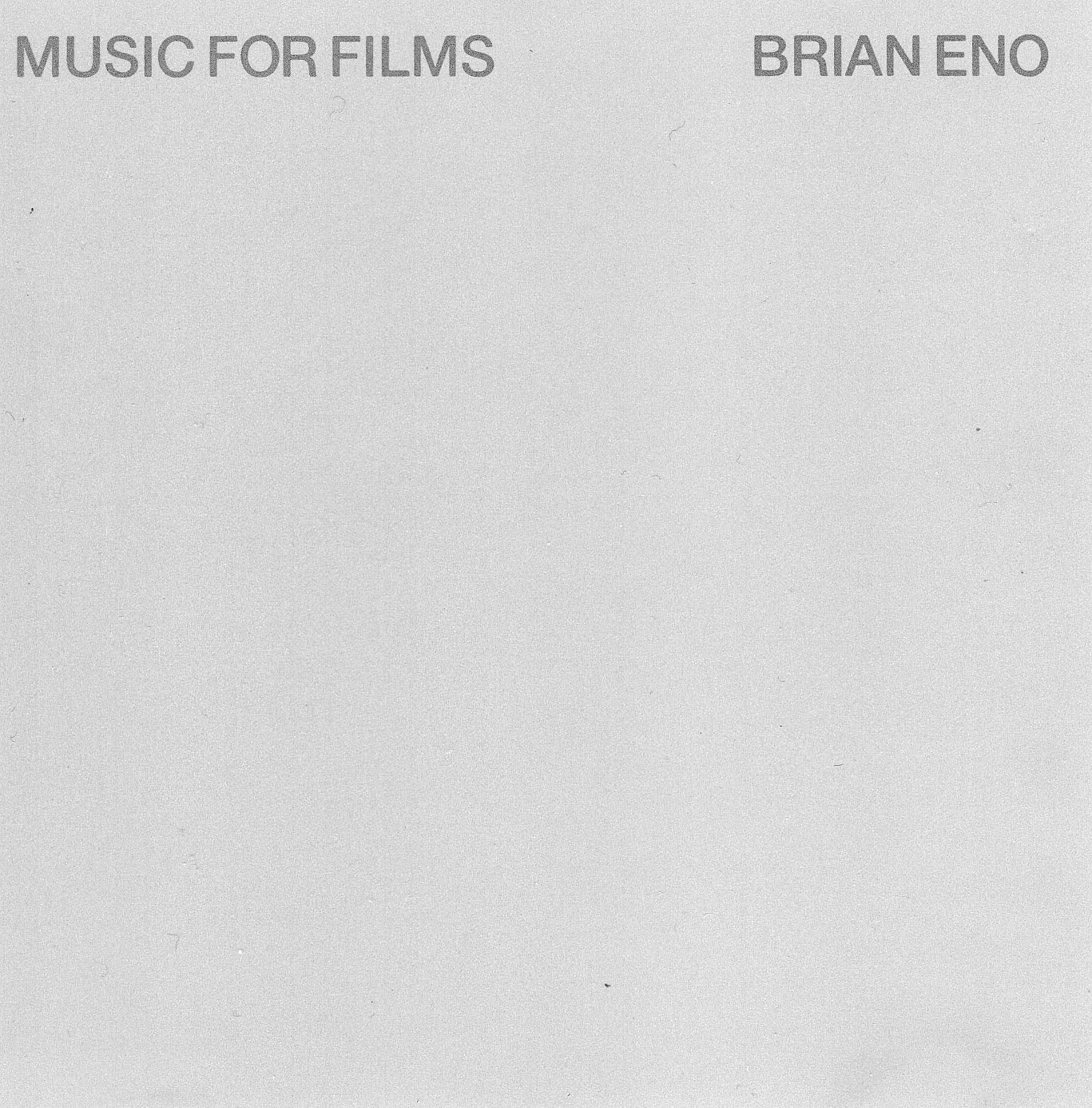"""Music For Films"" Brian Eno"