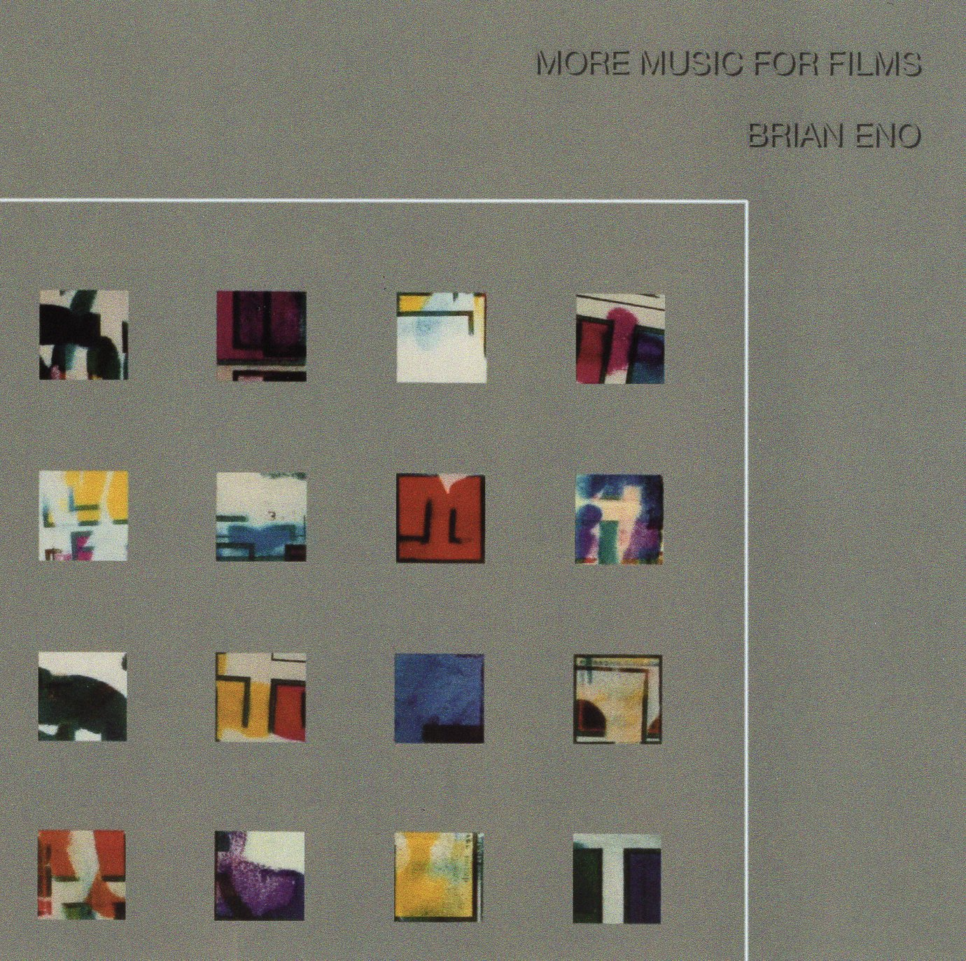 """More Music for Films"" Brian Eno"