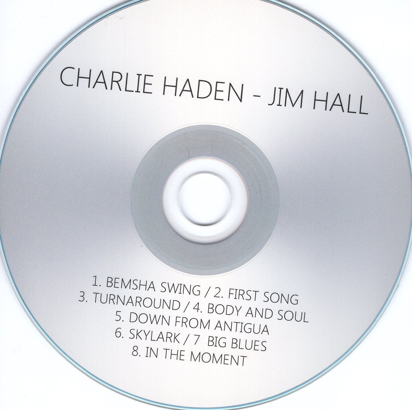 """Charlie Haden & Jim Hall"" Charlie Haden, Jim Hall"