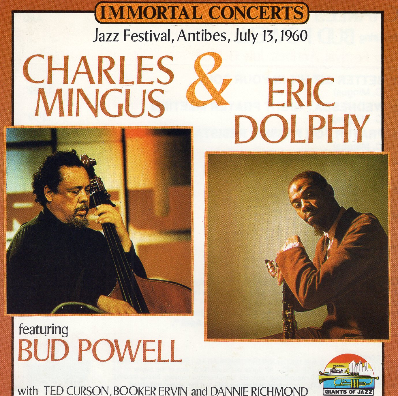 """Jazz Festival, Antibes, July 13, 1960 Charles Mingus & Eric Dolphy"" Charles Mingus, Eric Dolphy"