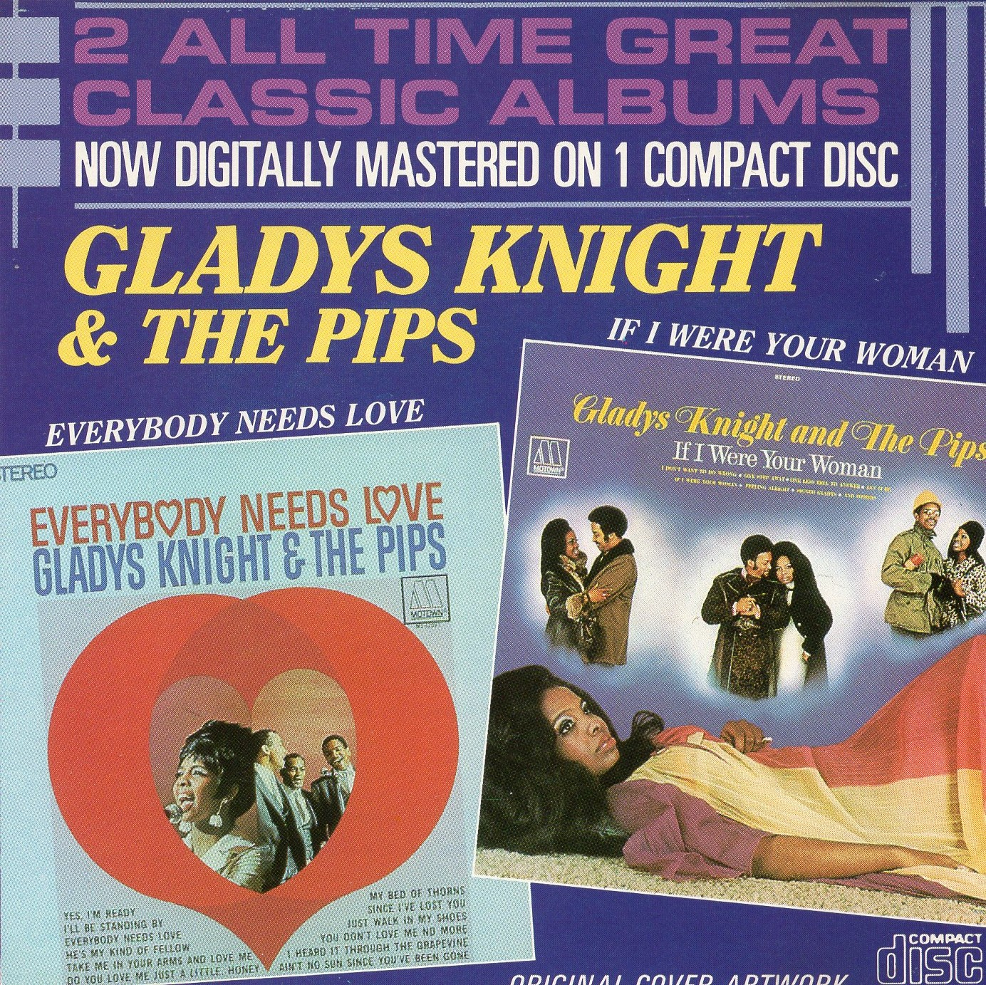 """2 All Time Great Classic Albums"" Gladys Knight, The Pips"