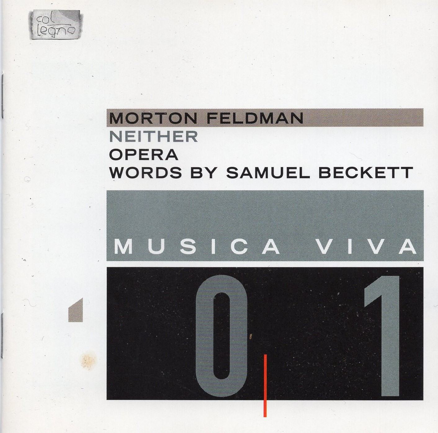 """Musica Viva 01: Words By Samuel Beckett - Neither (Opera)"" Morton Feldman"