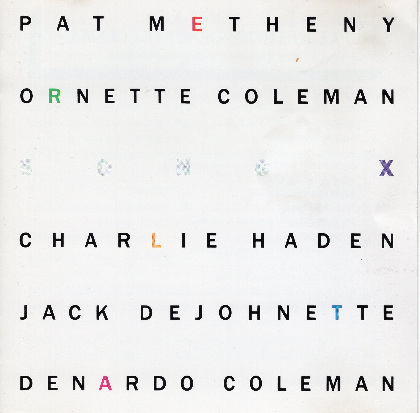"""Song X"" Ornette Coleman, Pat Metheny"