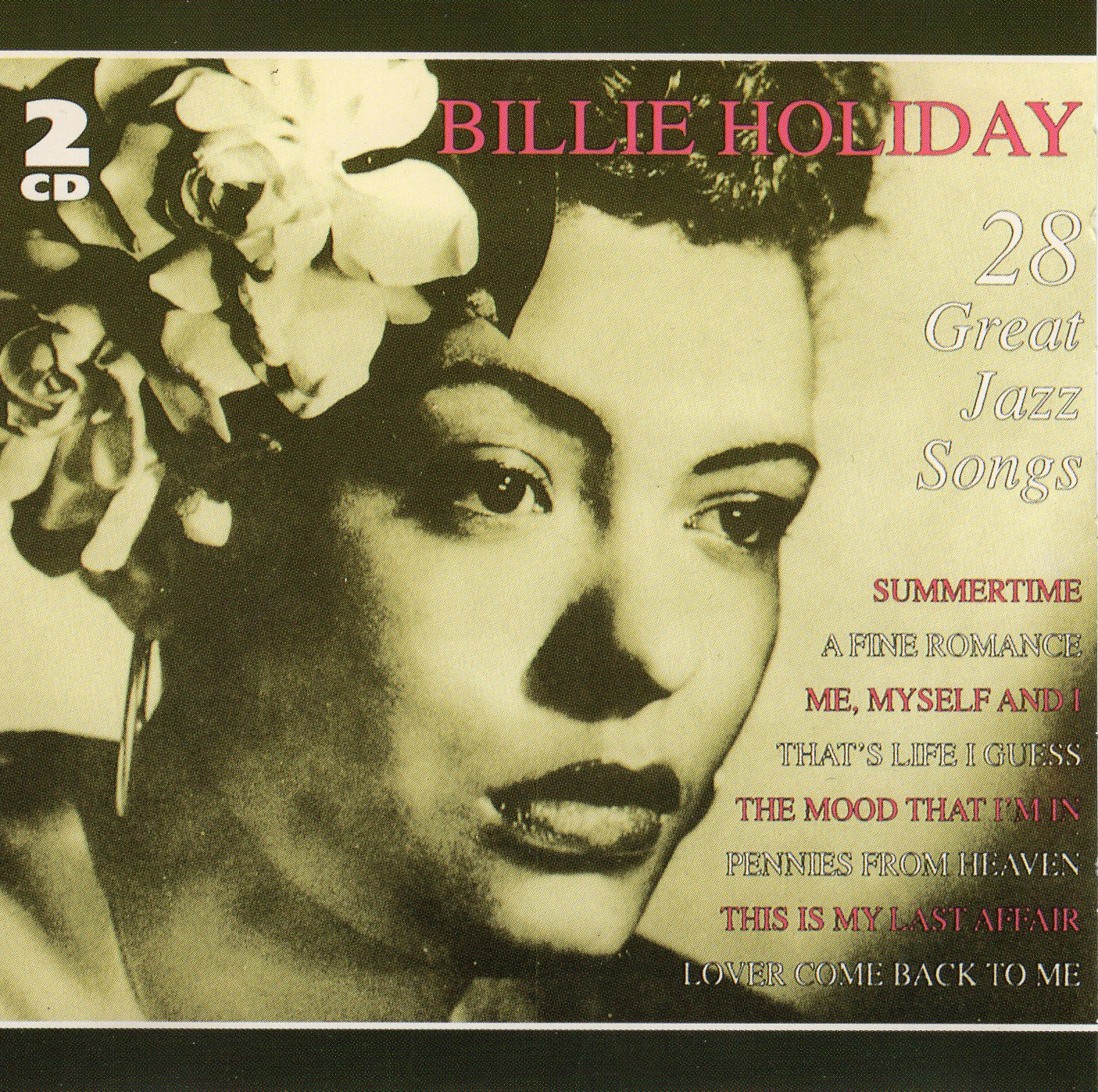 """Billy Holiday 28 Great Jazz Songs"" Billie Holiday"