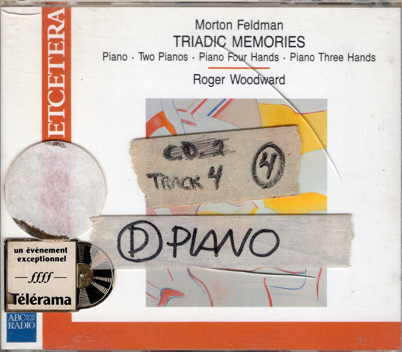 """Morton Feldman-Triadic Memories/ Piano・Two Pianos・Piano Four Hands・Piano Three Hands"" Morton Feldman, Roger Woodward"