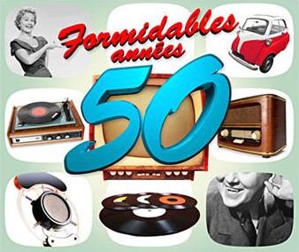 """Formidables Années 50-Chanson francaise"" Charles Aznavour, Georges Brassens, Serge Gainsbourg, Yves Montand"