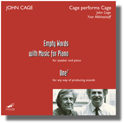 """Cage Performs Cage"" John Cage"