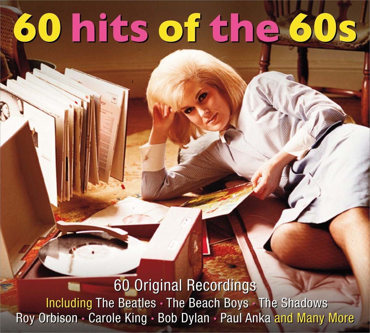 """60 Hits Of The 60's"" Ben E. King, Carole King, Dion, Johnny Preston, Ray Charles, Ricky Nelson, Roy Orbison, Sam Cooke, The Beatles, The Everly Brothers, The Four Seasons, The Shirelles"