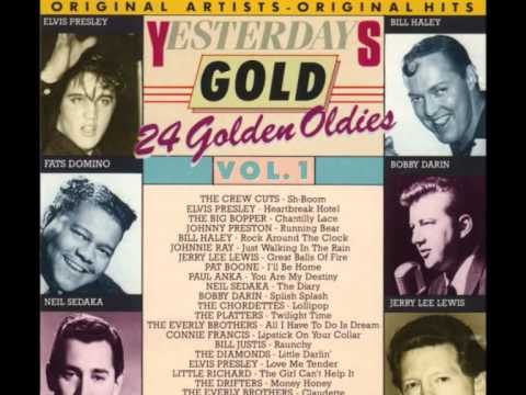 """Yesterday Gold Vol.1 - 24 Golden Oldies"" Bobby Darin, Connie Francis, Elvis Presley, Jerry Lee Lewis, Johnnie Ray, Johnny Preston, Little Richard, Neil Sedaka, Paul Anka, Ray Charles, The Drifters, The Everly Brothers, The Platters"