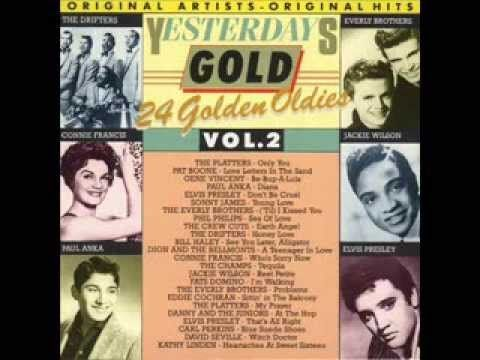 """Yesterday Gold Vol.2 - 24 Golden Oldies"" Connie Francis, Dion & The Belmonts, Eddie Cochran, Elvis Presley, Gene Vincent, Jackie Wilson, Paul Anka, The Drifters, The Everly Brothers, The Platters"