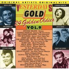 """Yesterday Gold Vol.9 - 24 Golden Oldies"" Ben E. King, Bobby Darin, Connie Francis, Dion & The Belmonts, Jerry Lee Lewis, Neil Sedaka, Sam Cooke, The Everly Brothers, The Platters, The Shirelles, The Skyliners"